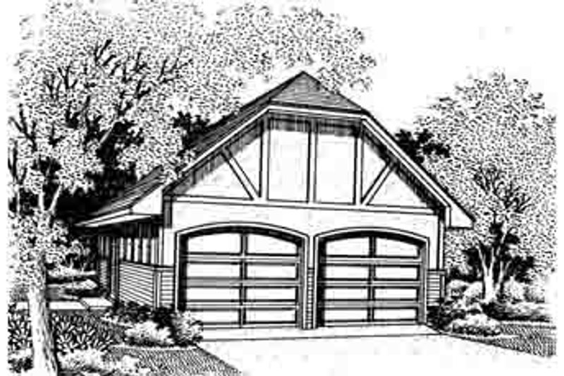 European Style House Plan - 0 Beds 0 Baths 616 Sq/Ft Plan #45-266 Exterior - Front Elevation