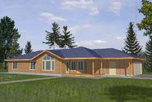 Ranch Exterior - Front Elevation Plan #117-287