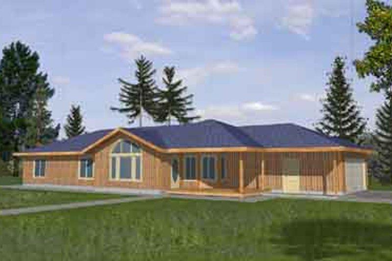 Ranch Exterior - Front Elevation Plan #117-287 - Houseplans.com