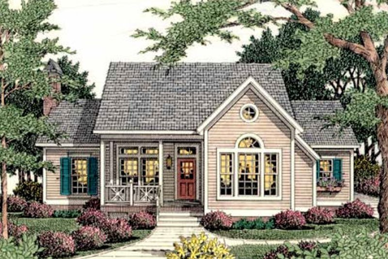 Traditional Exterior - Front Elevation Plan #406-272 - Houseplans.com