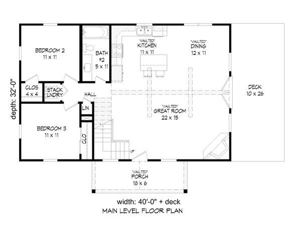 Country Floor Plan - Main Floor Plan Plan #932-39