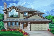 Traditional Style House Plan - 3 Beds 2 Baths 1341 Sq/Ft Plan #47-559 Exterior - Front Elevation