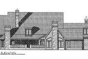 European Style House Plan - 3 Beds 3.5 Baths 3728 Sq/Ft Plan #70-549 Exterior - Rear Elevation