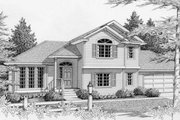 Traditional Style House Plan - 3 Beds 3 Baths 1794 Sq/Ft Plan #112-118 Exterior - Front Elevation