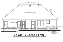 House Plan Design - Traditional Exterior - Rear Elevation Plan #20-2371