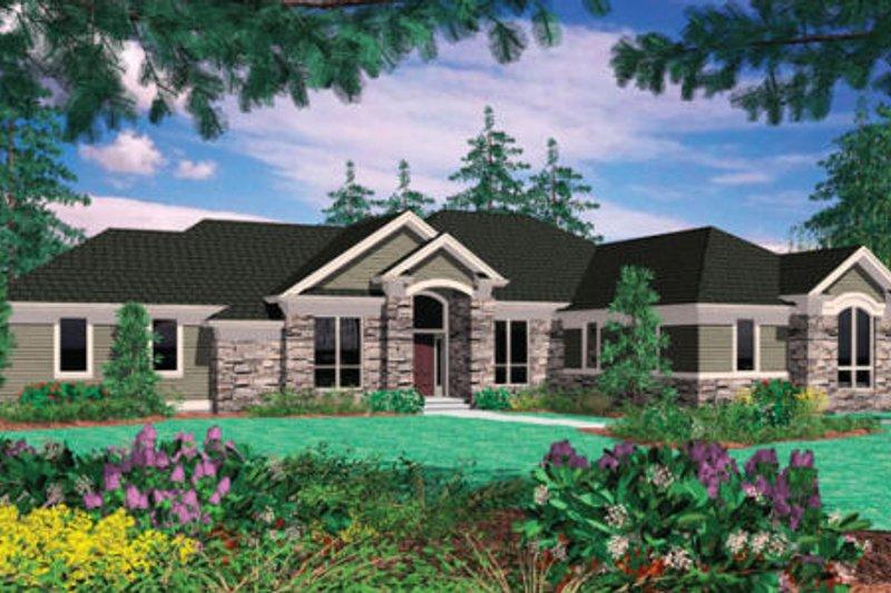 Architectural House Design - European Exterior - Front Elevation Plan #48-131