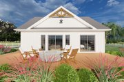 Farmhouse Style House Plan - 1 Beds 1.5 Baths 1024 Sq/Ft Plan #126-176 Exterior - Other Elevation