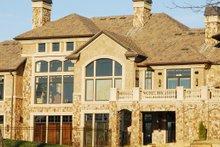 Dream House Plan - Rear view - 9400 square foot European home
