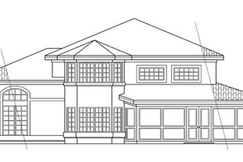 Mediterranean Exterior - Rear Elevation Plan #124-237 - Houseplans.com