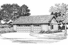 Traditional Exterior - Front Elevation Plan #72-280