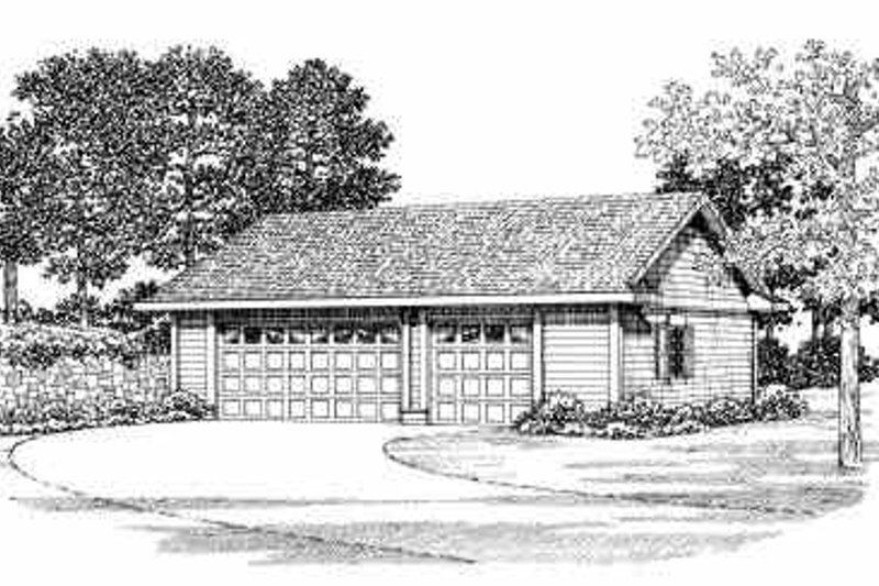 Traditional Exterior - Front Elevation Plan #72-280 - Houseplans.com