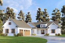 Dream House Plan - Farmhouse Exterior - Front Elevation Plan #437-126