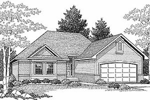 Traditional Exterior - Front Elevation Plan #70-123