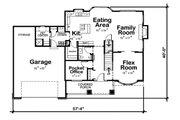 Craftsman Style House Plan - 3 Beds 2.5 Baths 2264 Sq/Ft Plan #20-2416 Floor Plan - Main Floor