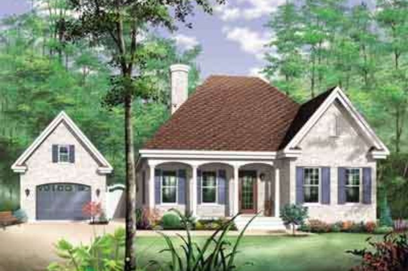 Home Plan - Traditional Exterior - Front Elevation Plan #23-478