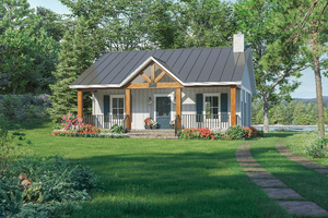 Country Exterior - Front Elevation Plan #21-464