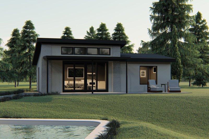 Architectural House Design - Modern Exterior - Front Elevation Plan #1064-121