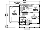 Contemporary Style House Plan - 3 Beds 2 Baths 2080 Sq/Ft Plan #25-4301 Floor Plan - Main Floor Plan