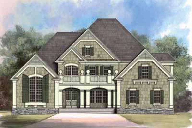 European Exterior - Front Elevation Plan #119-238