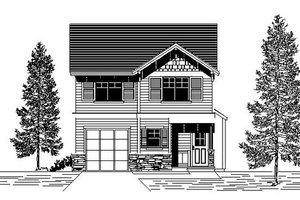 Bungalow Exterior - Front Elevation Plan #53-416