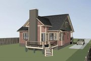Craftsman Style House Plan - 3 Beds 2.5 Baths 1891 Sq/Ft Plan #79-264 Exterior - Other Elevation