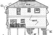 Beach Style House Plan - 3 Beds 3 Baths 1804 Sq/Ft Plan #37-159 Exterior - Rear Elevation