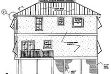 Beach Exterior - Rear Elevation Plan #37-159