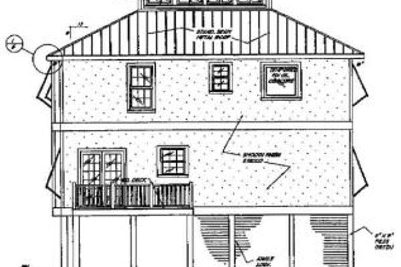 Beach Exterior - Rear Elevation Plan #37-159 - Houseplans.com