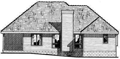 Traditional Exterior - Rear Elevation Plan #20-147 - Houseplans.com