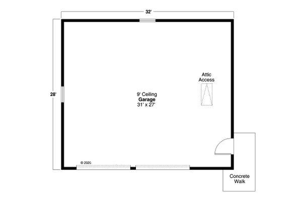 House Design - Traditional Floor Plan - Main Floor Plan #124-1218