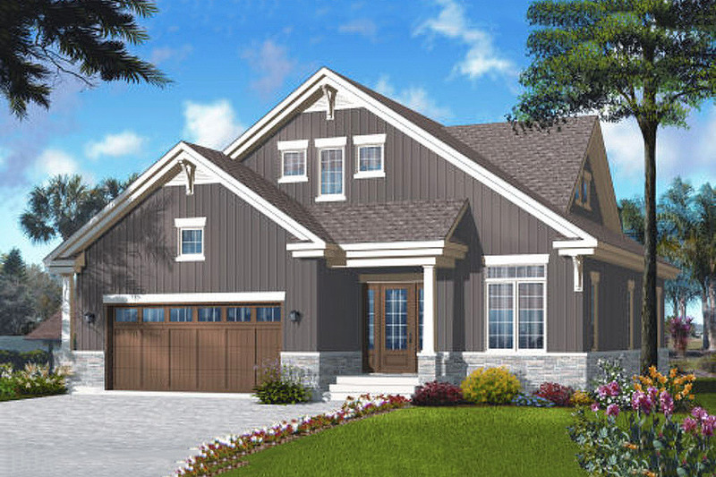 Bungalow Exterior - Front Elevation Plan #23-2243