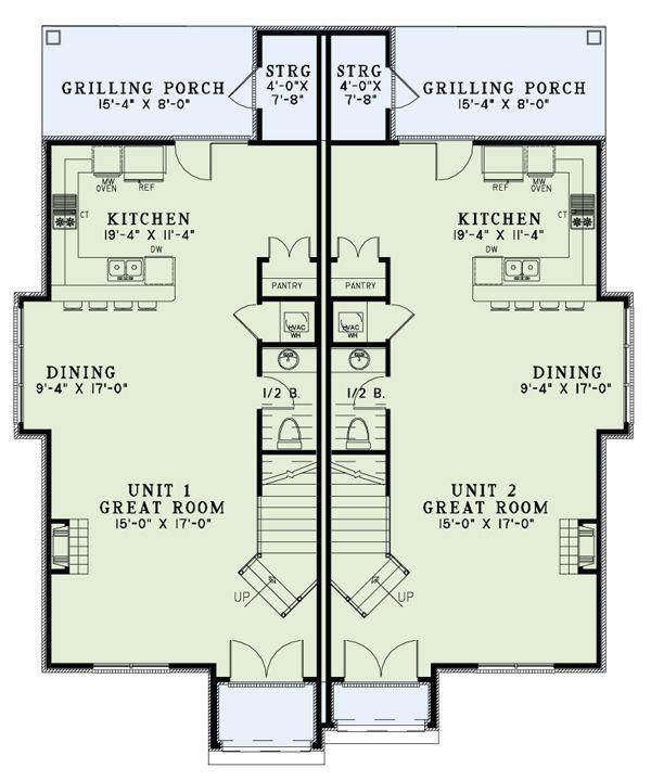 European Floor Plan - Main Floor Plan Plan #17-2526