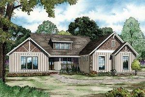 Craftsman Exterior - Front Elevation Plan #17-2586