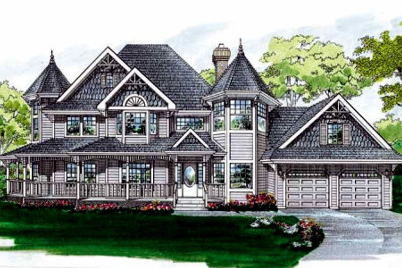 Victorian Style House Plan - 4 Beds 2.5 Baths 2632 Sq/Ft Plan #47-302