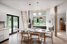 House Plan Design - Cabin Interior - Dining Room Plan #924-16