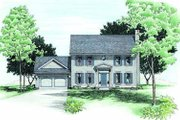 Colonial Style House Plan - 4 Beds 2.5 Baths 1933 Sq/Ft Plan #20-631 Exterior - Front Elevation