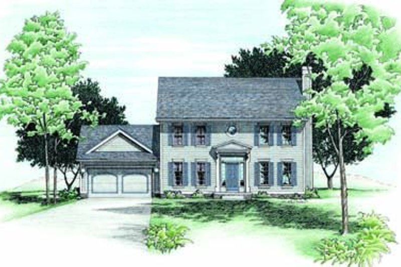 Colonial Exterior - Front Elevation Plan #20-631 - Houseplans.com
