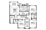 Colonial Style House Plan - 4 Beds 3.5 Baths 3669 Sq/Ft Plan #1010-175 Floor Plan - Upper Floor