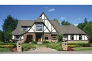 Tudor Style House Plan - 4 Beds 3.5 Baths 4940 Sq/Ft Plan #928-27 Exterior - Front Elevation