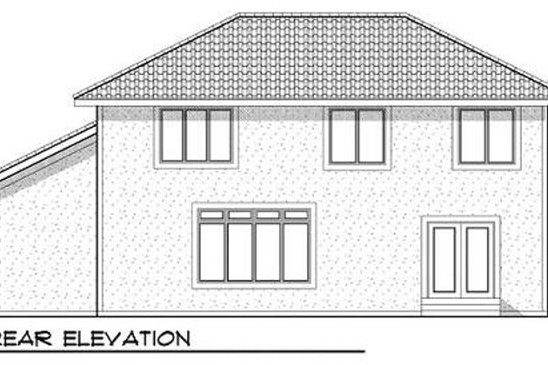 Mediterranean Exterior - Rear Elevation Plan #70-934 - Houseplans.com