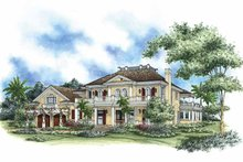 Mediterranean Exterior - Front Elevation Plan #1017-71