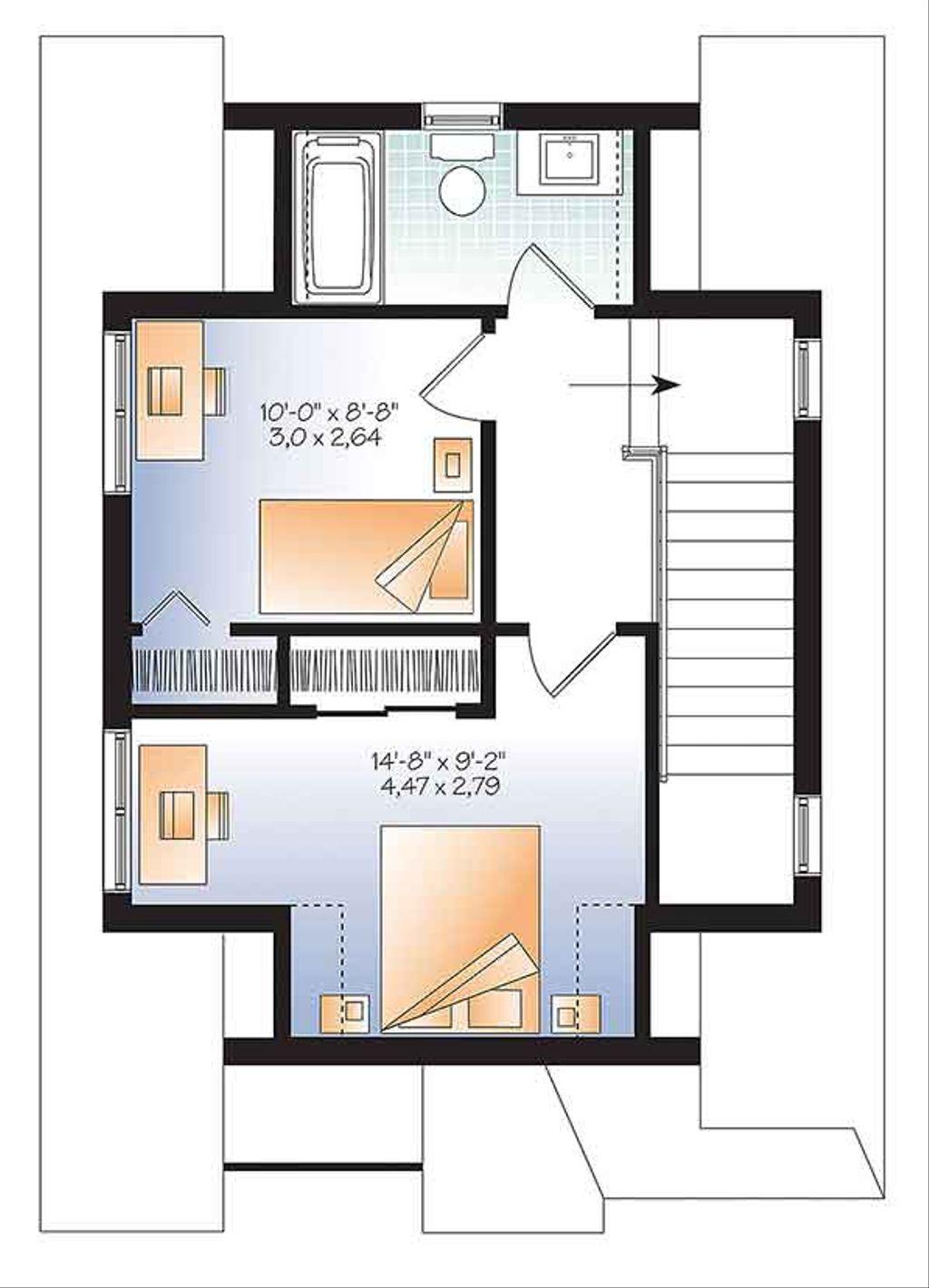 craftsman style house plan 3 beds 2 baths 943 sq ft plan 23