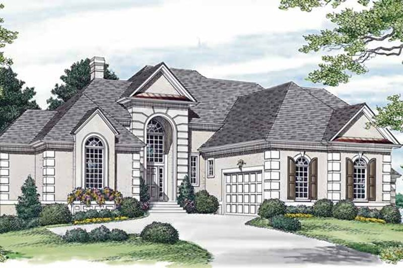 Dream House Plan - Traditional Exterior - Front Elevation Plan #453-565