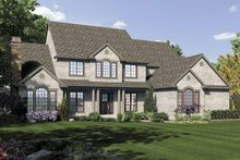 Traditional Exterior - Front Elevation Plan #48-876