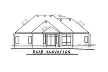 Dream House Plan - Traditional Exterior - Rear Elevation Plan #20-2458