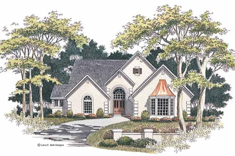 Country Exterior - Front Elevation Plan #952-22