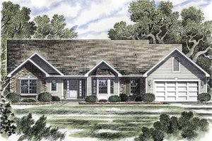 Home Plan - Ranch Exterior - Front Elevation Plan #316-176