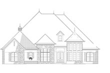 Country Exterior - Front Elevation Plan #17-3340