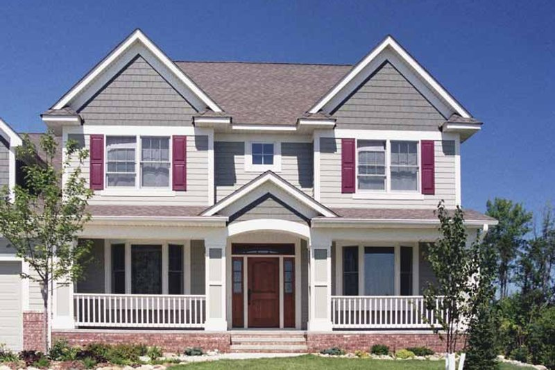 Traditional Exterior - Front Elevation Plan #51-662 - Houseplans.com