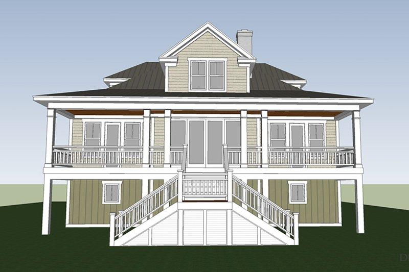 Country Exterior - Rear Elevation Plan #991-31 - Houseplans.com